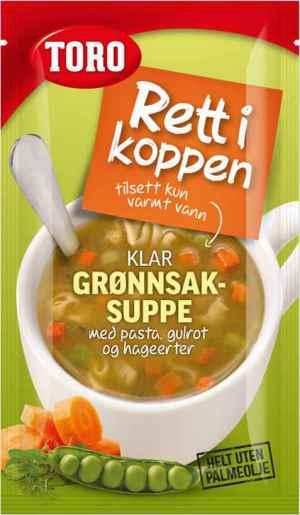 Prøv også Toro Rett i Koppen grønnsaksuppe med pasta.