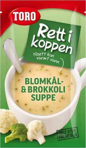 Prøv også Toro Rett i Koppen Blomkål og Brokkolisuppe.