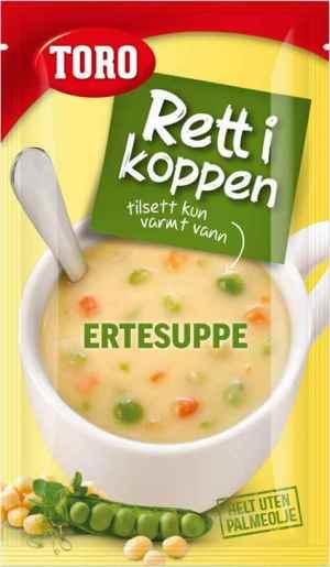 Prøv også Toro Rett i Koppen Ertesuppe med kjøtt og krutonger.