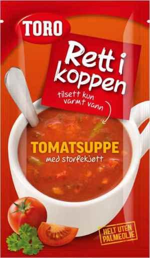 Prøv også Toro Rett i Koppen tomatsuppe med storfekjøtt.