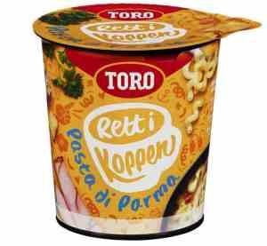 Prøv også Toro Rett i Koppen Pasta di parma med ostesaus, skinke og urter.
