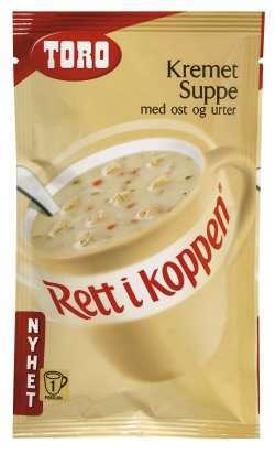 Prøv også Toro Rett i Koppen Kremet suppe med ost og urter.