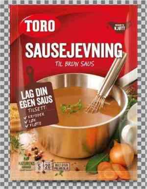 Prøv også Toro brunet sausejevning tilberedt.