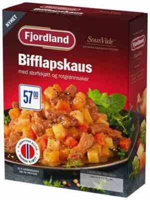 Prøv også Fjordland Bifflapskaus med flatbrød.
