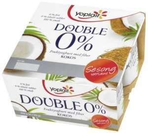 Prøv også Yoplait Dobbel 0% Kokos.
