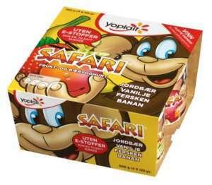 Prøv også Yoplait Safari Apeyoghurt 4x125g.