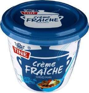 Prøv også Crème Fraîche, 35 % fett.
