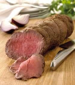 Bilde av Storfe, steik, roastbiff, rosa stekt.