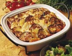 Prøv også Moussaka, med kjøttdeig.