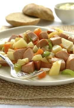 Prøv også Pytt i panne, stekte poteter med kjøtt og løk, fryst, kjøpt.