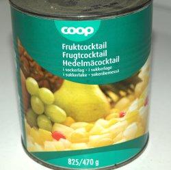 Prøv også Fruktcocktail, hermetisk, med sukkerlake.