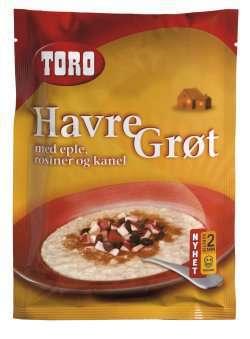 Prøv også Toro havregrøt med eple, rosiner og kanel.