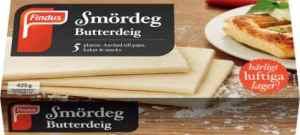 Prøv også Findus Butterdeig.