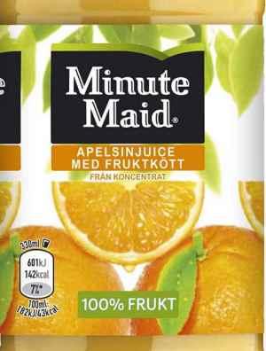 Prøv også Minute maid appelsin.
