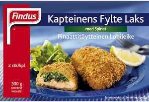 Prøv også Findus Kapteinens fylte laks med spinat.