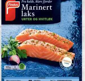 Prøv også Findus Marinert Laks urter og hvitløk.