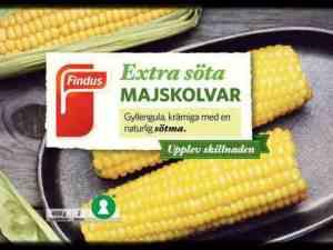 Prøv også Findus Maiskolber.