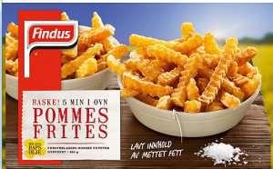 Prøv også Findus Pommes Frites.