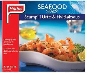 Prøv også Seafood Deli Scampi i Urte og Hvitløksaus.