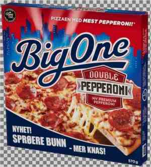 Prøv også Big One Double Pepperoni.