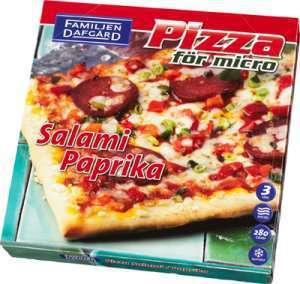 Prøv også Pizza Salami, Dafgård.