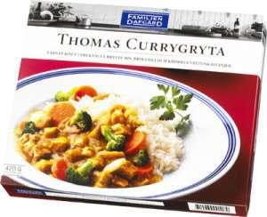 Prøv også Thomas Currygryte, Dafgård.