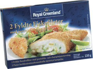 Prøv også Fylt fiskefilet m/purre og champignon, Royal Greenland.