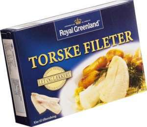 Prøv også Torske fileter, Royal Greenland.
