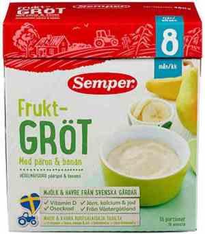 Prøv også Småfolk Fruktgrøt med pære og banan.
