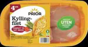 Prøv også Prior kyllingfilet 4 stk.