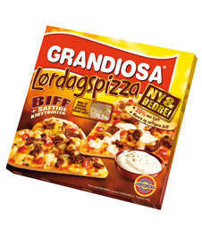 Prøv også Grandiosa Lørdagspizza.