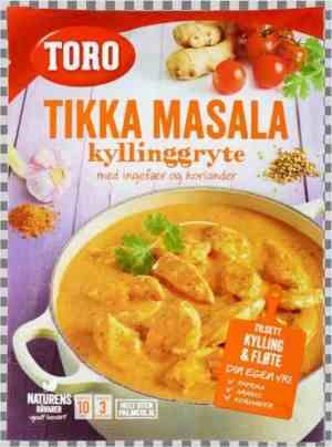Les mer om Toro indisk gryte tikka masala hos oss.
