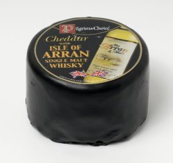 Les mer om Pilgrims Choice Cheddar with Isle of Arran Whiskey hos oss.