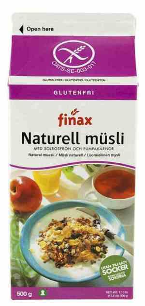 Prøv også Finax glutenfri naturell müsli.