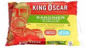 Prøv også King Oscar brislingsardiner i olivenolje 2 lag.