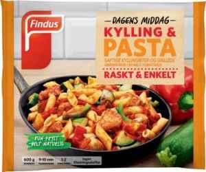 Prøv også Findus Kylling & Pasta 600g.