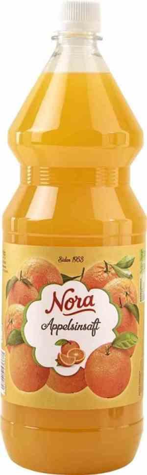Prøv også Nora appelsinsaft.