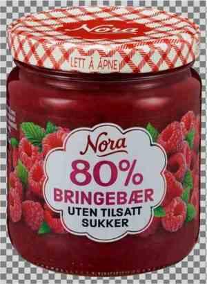 Prøv også Nora Bringebærsyltetøy uten tilsatt sukker.