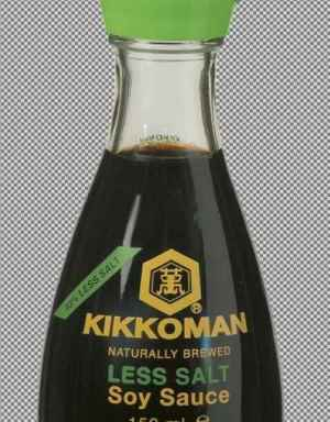 Prøv også Kikkoman soyasaus mindre salt.