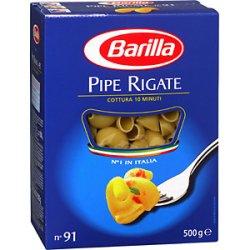 Prøv også Barilla Pipe rigate.