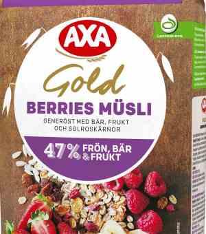 Prøv også AXA gold musli berries.