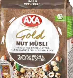 Prøv også AXA gold musli nut.