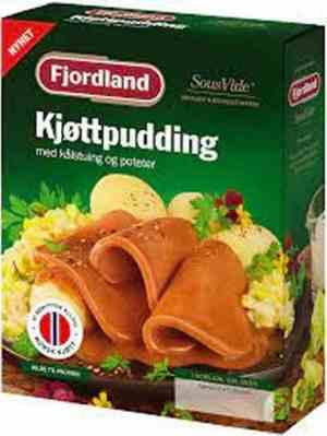 Prøv også Fjordland Kjøttpudding med kålstuing, poteter.