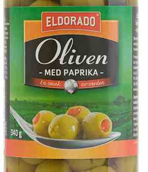 Les mer om Eldorado oliven gr�nn med paprika hos oss.