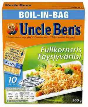 Prøv også Uncle Bens fullkornsris.