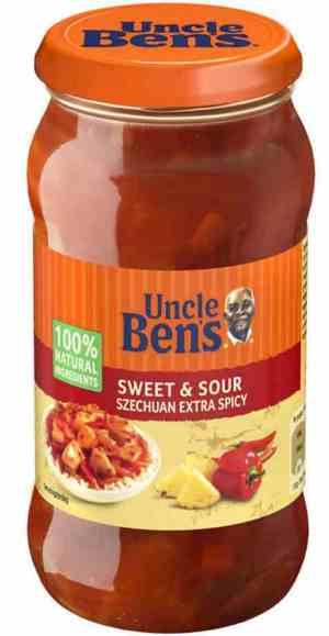 Prøv også Uncle Bens Sweet and Sour Szechuan.