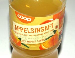 Prøv også Coop appelsinsaft.