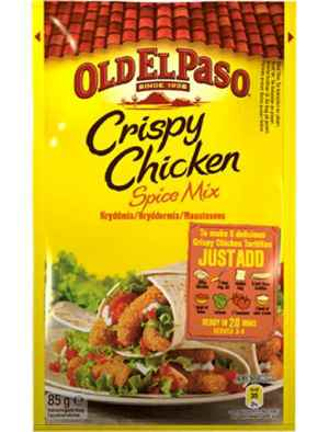 Prøv også Old El Paso spicemix for crispy chicken.