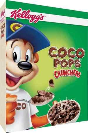 Prøv også Kelloggs Coco pops crunchers.