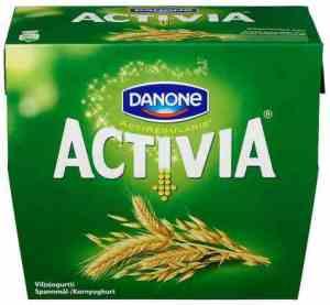 Prøv også Danone Activia yoghurt med korn.